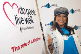 Carrie Ann Inaba Volunteers in Vegas