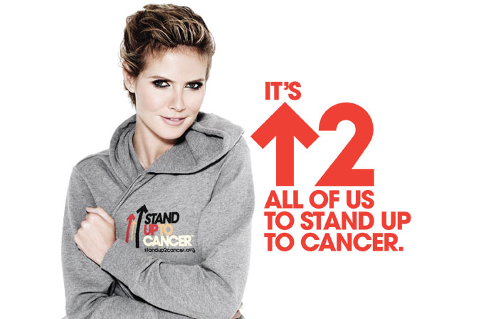 HEIDI KLUM STRIKES A POSE FOR CANCER RESEARCH IN NEW STAND UP TO CANCER PUBLIC SERVICE ANNOUNCEMENT